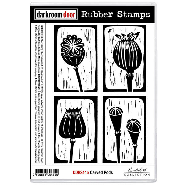 Darkroom Door Stamp Set - Carved Pods