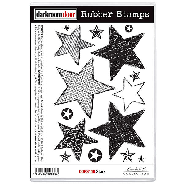 Darkroom Door rubber stamp set - Stars