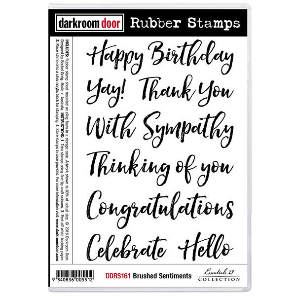 Darkroom Door stamp set, brushed sentiments