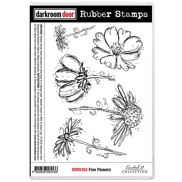 Darkroom Door stamp set, Fine Flowers