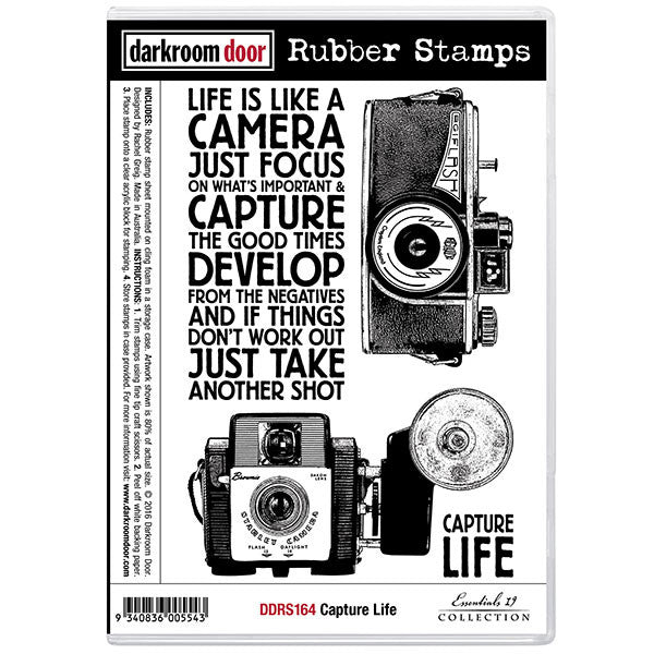 Darkroom Door stamp set, Photography themed, Capture Life
