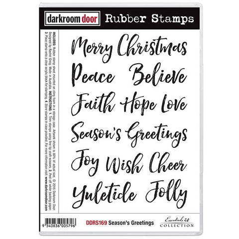 Christmas wording in a beautiful brush script