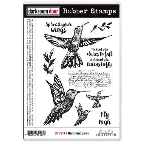 Darkroom Door cling rubber stamps of hummingbirds
