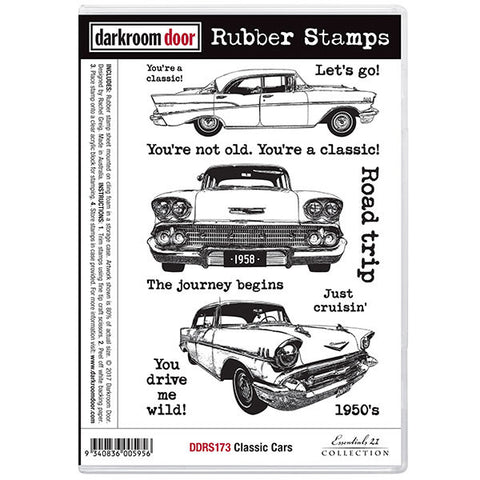 Classic Car stamps from Darkroom Door