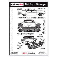 Darkroom Door Classic Cars Stamp Set