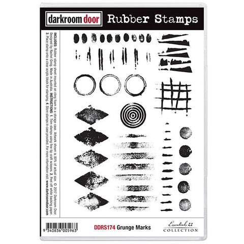 Darkroom Door stamp set featuring groovy grunge style designs