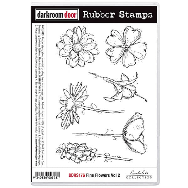 Darkroom Door stamp set of pretty flowers