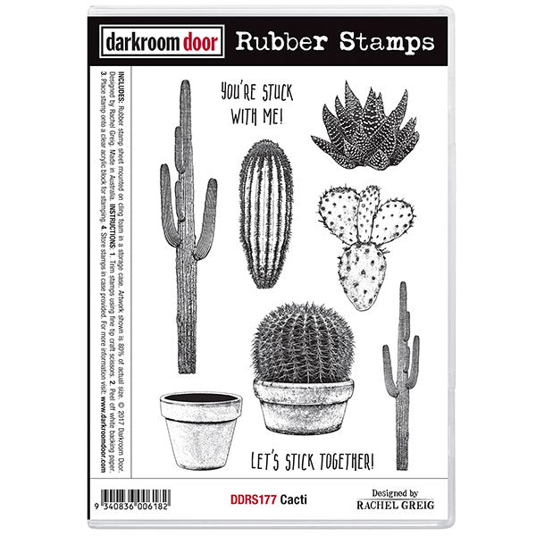 Rubber Stamp Set - Cacti - Darkroom Door
