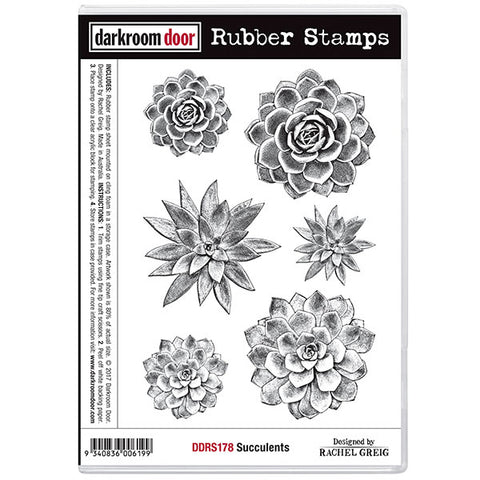 Rubber Stamp Set - Succulents - Darkroom Door