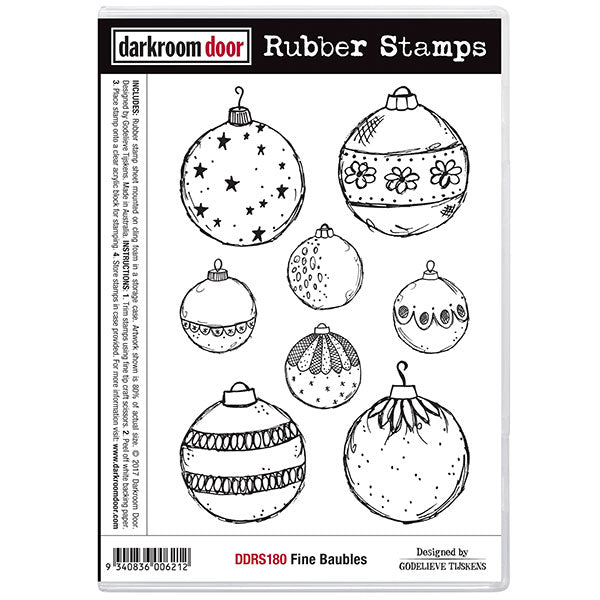 Rubber Stamp Set - Fine Baubles - Darkroom Door