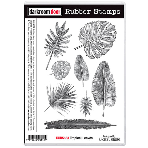 stamps for crafts features a variety of leaves from palms and ferns