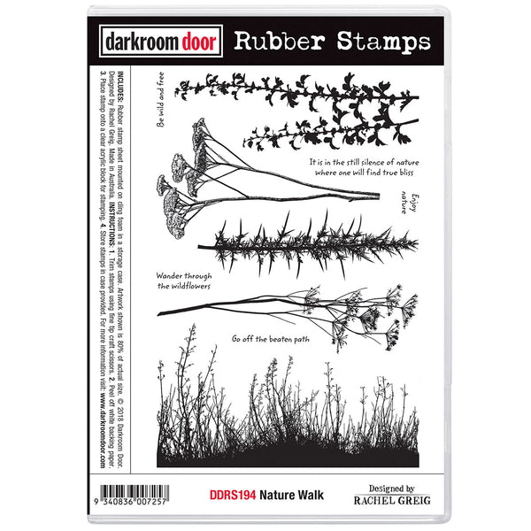 Nature Walk  Rubber Stamp Set by Darkroom Door