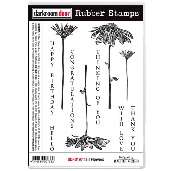 Darkroom Door Stamp Set - Tall Flowers and Quotes