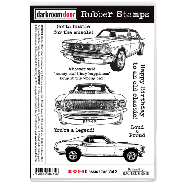 Darkroom Door Stamp Set - Classic Cars set 2