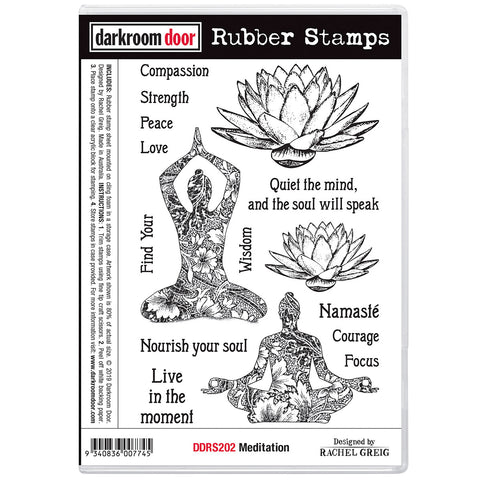 Meditation ... Rubber Stamp Set by Darkroom Door