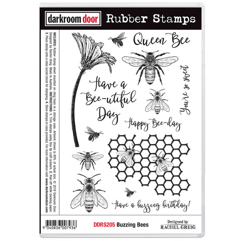 Buzzing Bees ... rubber stamps by Darkroom Door
