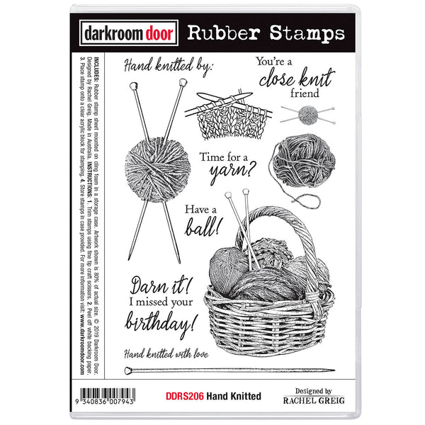 Hand Knitted ... rubber stamps by Darkroom Door