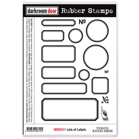 Lots of Labels ... rubber stamps by Darkroom Door