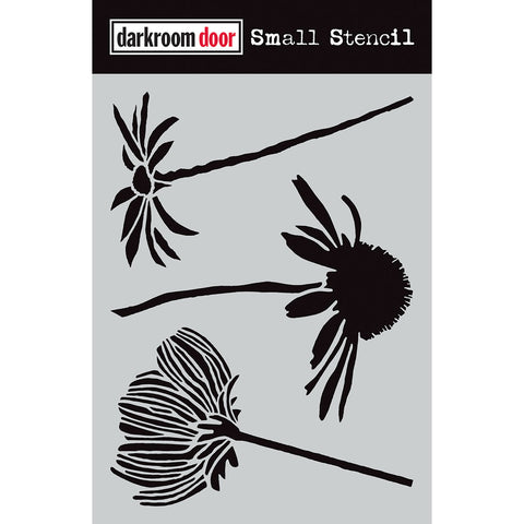 Darkroom Door Stencil - Small - Carved Flowers