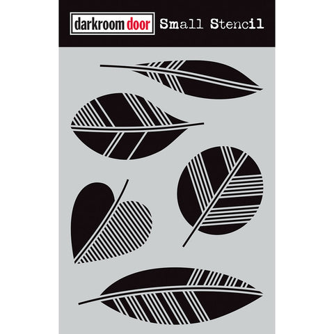 Darkroom Door Stencil - Small - Carved Leaves