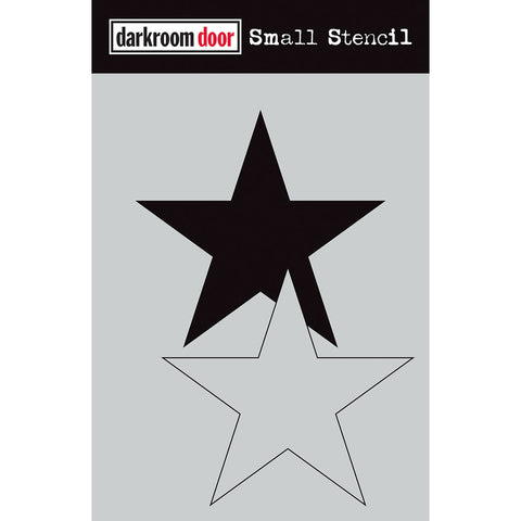 Darkroom Door Stencil and Mask - Small - 5 pointed Star