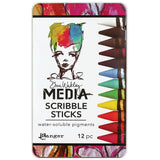 Dina Wakley Media Scribble Sticks in primary, secondary colours by Ranger from Art by Jenny