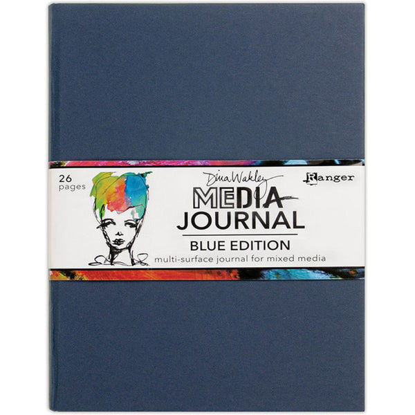 Dina Wakley Media - Blue Journal for Mixed Media