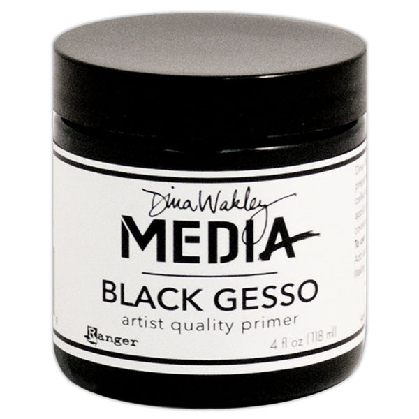 Black Gesso ... 4oz - by Ranger and Dina Wakley Media.