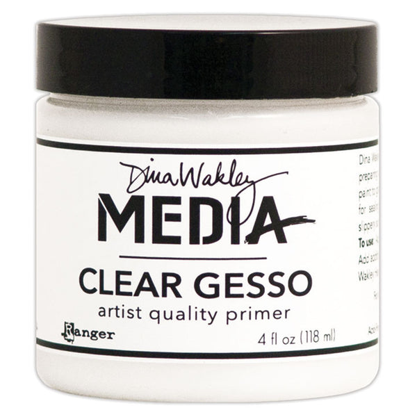 Clear Gesso ... 4oz - by Ranger and Dina Wakley Media.