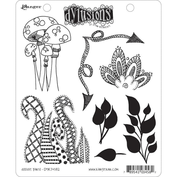 Dylusions by Dyan Reaveley Cling Stamps - Doodle Parts