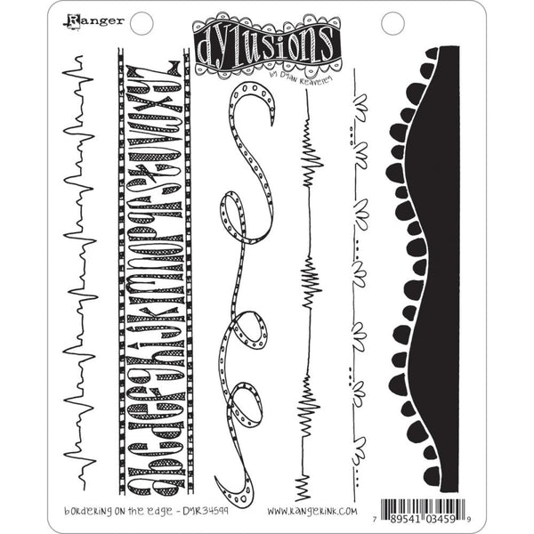 Dylusions by Dyan Reaveley Cling Stamps - Bordering on the Edge