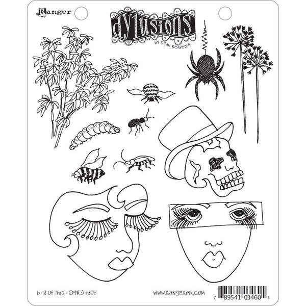 Dylusions by Dyan Reaveley Cling Stamps - Bits of This