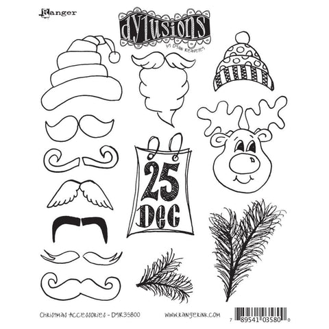 Dylusions by Dyan Reaveley Cling Stamps - Christmas Accessories