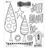 Dylusions Cling Rubber Stamps - One Two Tree