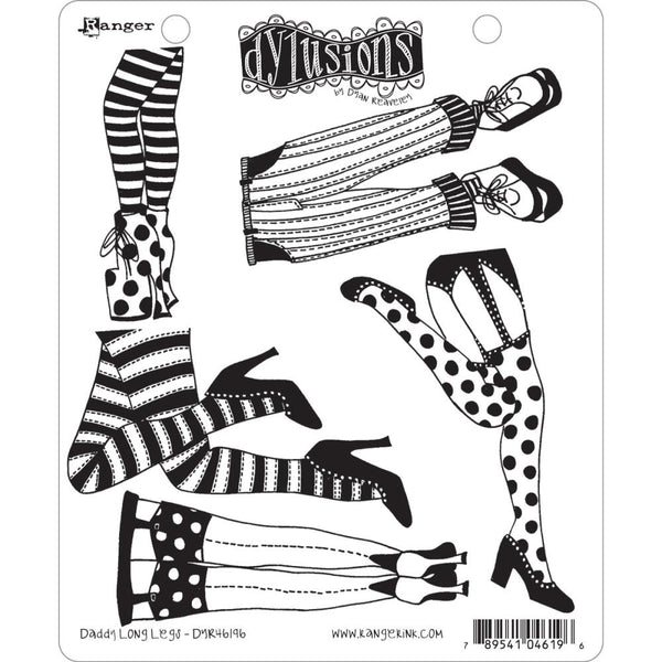 Dylusions by Dyan Reaveley Cling Stamps - Daddy Long Legs - NEW