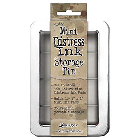 Tim Holtz Mini Distress Ink Storage Tin with Hinged Lid