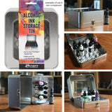 Example of use for the Tim Holtz Alcohol Ink Storage Tin