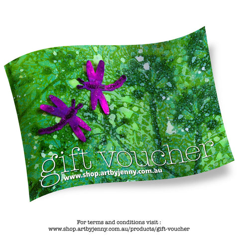 Gift voucher for buying art supplies