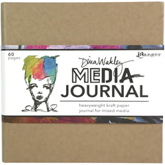 image of the cover for Dina Wakley Media kraft 6x6 journal, portable and crafty