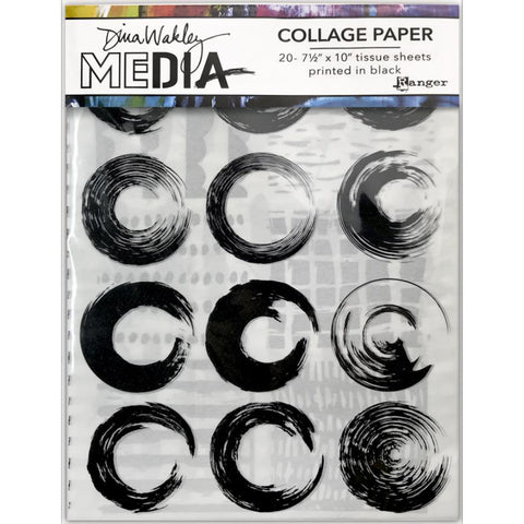 Elements - Collage Tissue Paper by Dina Wakley Media and Ranger - 20 printed sheets