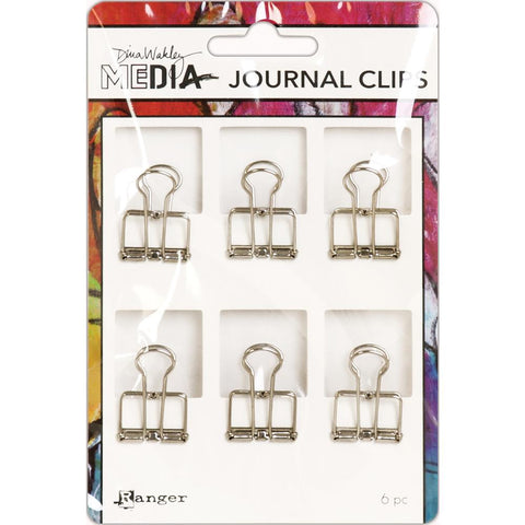 Journal Clips ... by Dina Wakley Media and Ranger - 6 (six) strong wire hinged clips