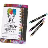 Dina Wakley Media Scribble Sticks in metallics and pastels by Ranger from Art by Jenny