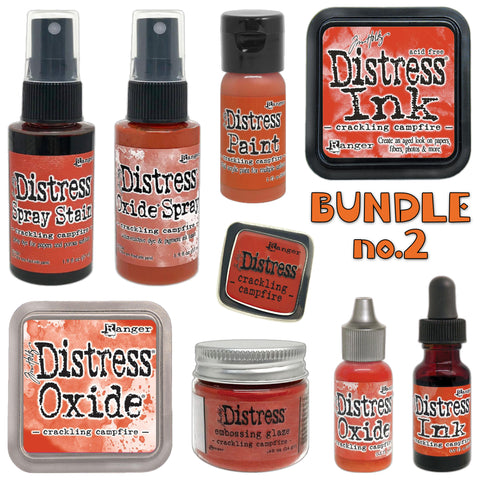 Tim Holtz Distress colour no.2 is beautiful dark vibrant red-orange called Crackling Campfire - Photo by Tim Holtz, Ranger Ink, all available in Australia from Art by Jenny