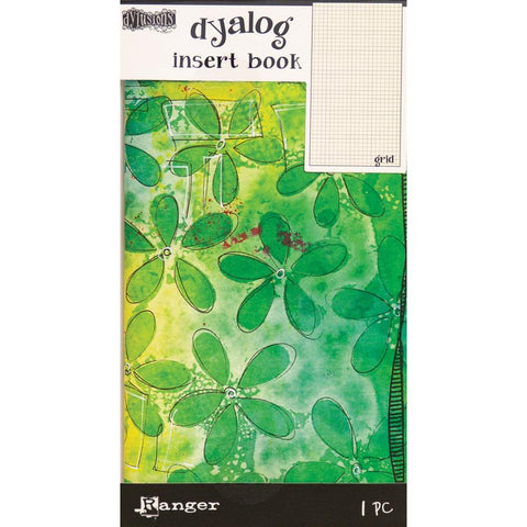 Dyalog Insert Book : Grid (no.2) lime green and yellow floral cover.