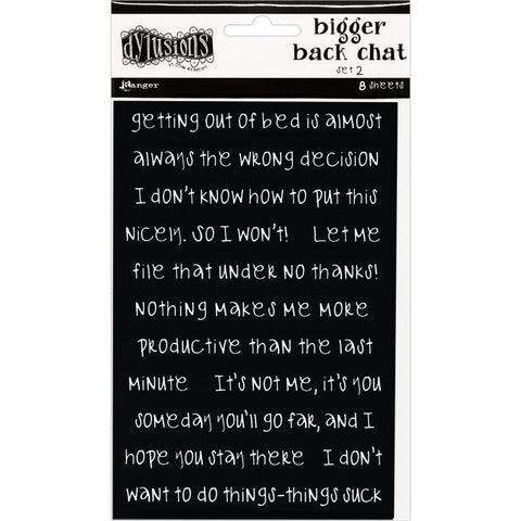 Dylusions by Dyan Reaveley Sticker Sheets - Bigger Back Chat - Set 2 Black