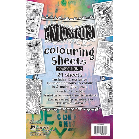 Dylusions Colouring Sheets - Set 2 - 24 Sheets - NEW!