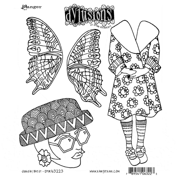 Dylusions Cling Rubber Stamps - Sunday Best
