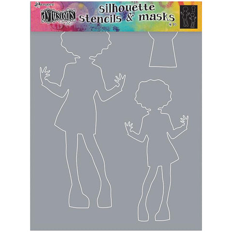 Large Silhouette Stencil by Dyan Reaveley of Dylusions ... Maisie