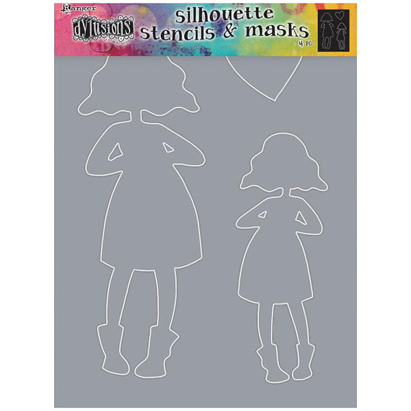 Large Silhouette Stencil by Dyan Reaveley of Dylusions ... Martha