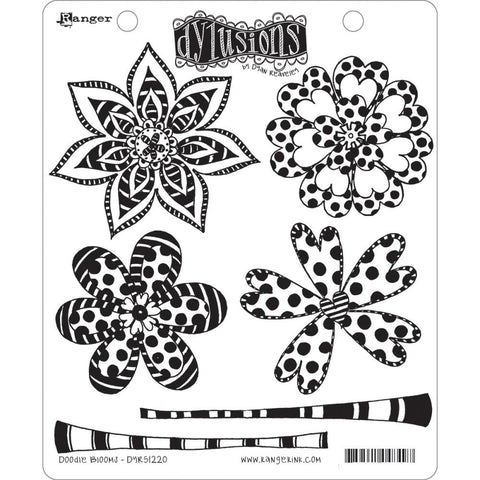 Dylusions Stamps Doodle Blooms